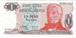 Argentina 1 Peso Argentino 1983 Pk 311 A.2 Con Tiras De Colores, Firmas P.C. López Y E.G. Vázquez UNC Ref 3000-1 - Argentina