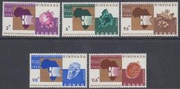 Congo, Dr 1969 - International Fair, Kinshasa: Diamond, Coffee, Cotton, Copper - Mi 330-334 MNH ** - Ongebruikt