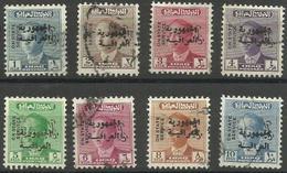 Iraq - 1958 Republic Overprint On 1957 Faisal Officials Used   SG O498-505  Sc O192-9 - Iraq