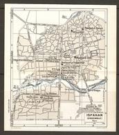 CARTE PLAN 1956 - MOYEN ORIENT IRAN -  ISFAHAN PLAN D'ENSEMBLE CLUB ARMENIEN DJOLFA AGENCE AIRFRANCE CONSULAT AMERICAIN - Topographical Maps