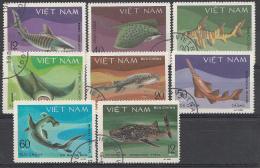 VIETNAM MI.NR.1111-1118 VISSEN  FISCHE   USED / GEBRUIKT / OBLITERE 1980 - Vietnam