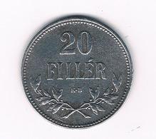 20 FILLER 1916  HONGARIJE /5826/ - Ungarn