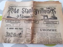 """Congo Stanleystad, """"Le Stanleyvillois,gazet, 1954, 10 Blz; 8 Scans, Envoyer:A4 ;  Belgique : 2,50, Europe : 5 EUR - Riviste: Abbonamenti"""