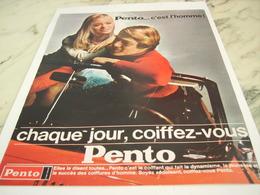 ANCIENNE PUBLICITE C EST L HOMME PENTO 1967 - Perfume & Beauty