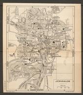 CARTE PLAN 1956 - MOYEN ORIENT ISRAEL ISRAELE - JERUSALEM JERUSALÉN GERUSALEMME - Topographische Kaarten