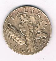 10 CENTESIMI  1943 R  ITALIE /5830/ - 1861-1946: Königreich