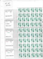 LOT N° 10   5 Carnets Marianne C&K Lettre Verte - Carnets