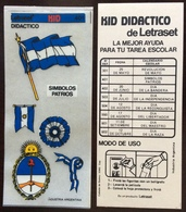 ARGENTINA Simbolos Patrios LETRASET KID DIDACTICO - Creative Hobbies