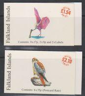 Falkland Islands 1998 Rare Visiting Birds 2 Booklets ** Mnh (43997) - Falkland