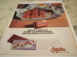 ANCIENNE PUBLICITE CHOCOLAT  SUCHARD DE MILKA 1967 - Affiches