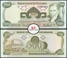 Nicaragua | 500 Cordobas | 1984 | P.142 | F 0000126 | UNC - Nicaragua