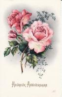 Anniversaire, Jolies Roses, Signée Gougeon - Geburtstag