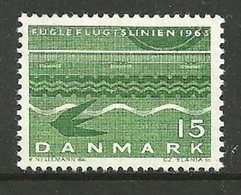 DENMARK 1963 TRAINS RAILWAYS BIRD FLIGHT LINE SET MNH - Denmark