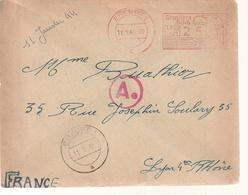 Lettre Travailleur Forces De  Allemagne Par Lyon - Marcophilie (Lettres)