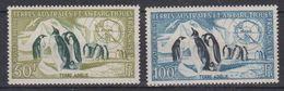 TAAF 1956 Penguins 2v ** Mnh (44001) - Franse Zuidelijke En Antarctische Gebieden (TAAF)