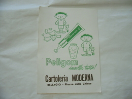 PUBBLICITà ADVERTISING CARTA ASSORBENTE PELIKAN COLLA PELIGOM  BELLAGIO - Pubblicitari