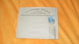 ENVELOPPE ANCIENNE DE 1926.../ LA PRESSE REUNIE DE QUOTIDIENS D'ALSACE ET DE LORRAINE PARIS...CACHETS + TIMBRE - Storia Postale