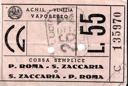 BOAT TICKET ITALY 1960th - Europa