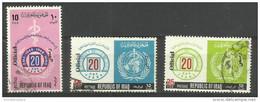 Iraq - 1971 WHO Officials Overprint 3 Used  Sc O222-4 - Iraq