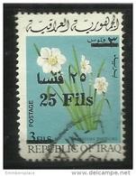 Iraq - 1975 Flowers Overprint 25f/3f Used  Sc 726 - Iraq