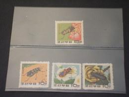 COREA NORD - 1963 INSETTI 4 VALORI - NUOVI(++) - Corea Del Nord