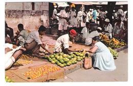 Tanzania - Zanzibar - Fruit Seller - Market - Nice Fish Stamp Stamps Timbre Timbres - Tansania