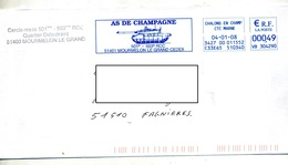 Lettre Flamme Ema Chalons Char As De Campagne - Poststempel (Briefe)