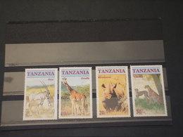 TANZANIA - 1986 FAUNA 4 VALORI - NUOVI(++) - Tanzania (1964-...)