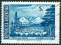 ARGENTINA #884  - RIQUEZA AUSTRAL - TIERRA DEL FUEGO  5 Cents   -  1971  Used - Argentina