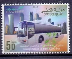 2013 QATAR Launch Of First Natural Gas Bus 1 Values MNH - Qatar