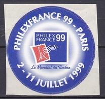 Timbre Erinnophilie  PHILEXFRANCE 99 PARIS 2-11 Juillet 1999 - Autres