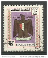 Iraq - 1975 Arms Official 50f Used  Sc O324 - Iraq