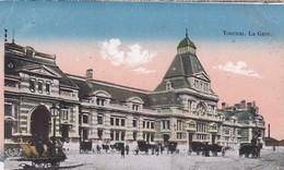 CPA Tournai - La Gare - Feldpost Fussartillerie-Bataillon Nr. 56 - 1917 (42799) - Tournai