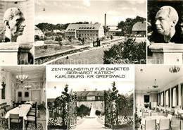 73295266 Karlsburg_Greifswald Zentralinstitut Fuer Diabetes Gerhardt Katsch Verw - Deutschland