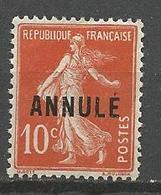 COURS D'INTRUCTION N° 138-CI 1 NEUF* TRACE DE CHARNIERE / MH - Lehrkurse
