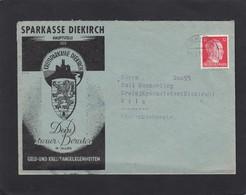 KREISSPARKASSE  DIEKIRCH.BRIEF AN EINEM KREISJÄGERMAISTER IN WILZ. - 1940-1944 Occupation Allemande