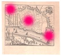 Plan De La Ville ANTWERPEN ANVERS  Gravure Originale Vers 1750  RARE - Documents Historiques