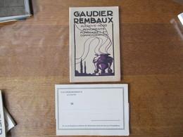 AULNOYE NORD GAUDIER REMBAUX MONUMENTS FUNERAIRES ET COMMEMORATIFS CATALOGUE SEPTEMBRE 1921 - Advertising
