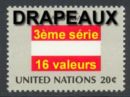 NU (New York) 1982 Yvert 365 / 380 ** TB Drapeaux - Nuovi