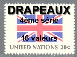 NU (New York) 1983 Yvert 390 / 405 ** TB Drapeaux Bord De Feuille - Nuovi