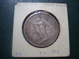 Trade Dollar Argent 1910 Grande Bretagne - 1902-1971 :  Post-Victoriaanse Muntstukken