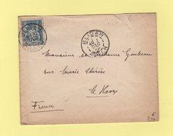 Blidah - Alger - 1 Dec 1898 - Type Sage - Marcophilie (Lettres)