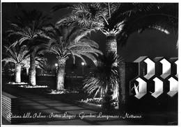 Pietra Ligure (Savona). Giardini Lungomare - Notturno. - Savona