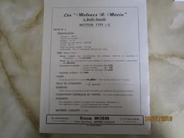 Moteur R Morin à Huile Lourde  PUBLICITE  R MORIN à Meziers Ardennes   -----------------------19 Meni - Vieux Papiers