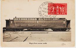 France,  Expo Des Cheminots Philatelistes Paris 1949 Sur Wagon Poste  TB - Poststempel (Briefe)