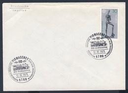 Deutschland Germany 1975 Brief Cover Lettre - 100 Jahre Eisenbahn In Pirmasens - 1875-1975 - BSV Grosstaschtag - Treinen