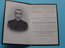 DP E.H. Edward COLLON () Antwerpen 13 April 1886 - Esschen 20 Juli 1914 ( Zie / Voir Photo ) ! - Esquela