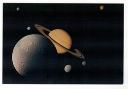 National Air And Space Museum.  Washington.  This Montage Of Images Of The Saturnian System Was Prepared From An .... - Astronomie
