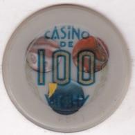 Jeton De Casino De Vichy 100  Francs , Numéroté : 4841 , Frappe Monnaie - Casino