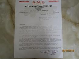 Ets Chantalat Malivert à Saint Ouen 93   -----------------------19 Meni - Vieux Papiers